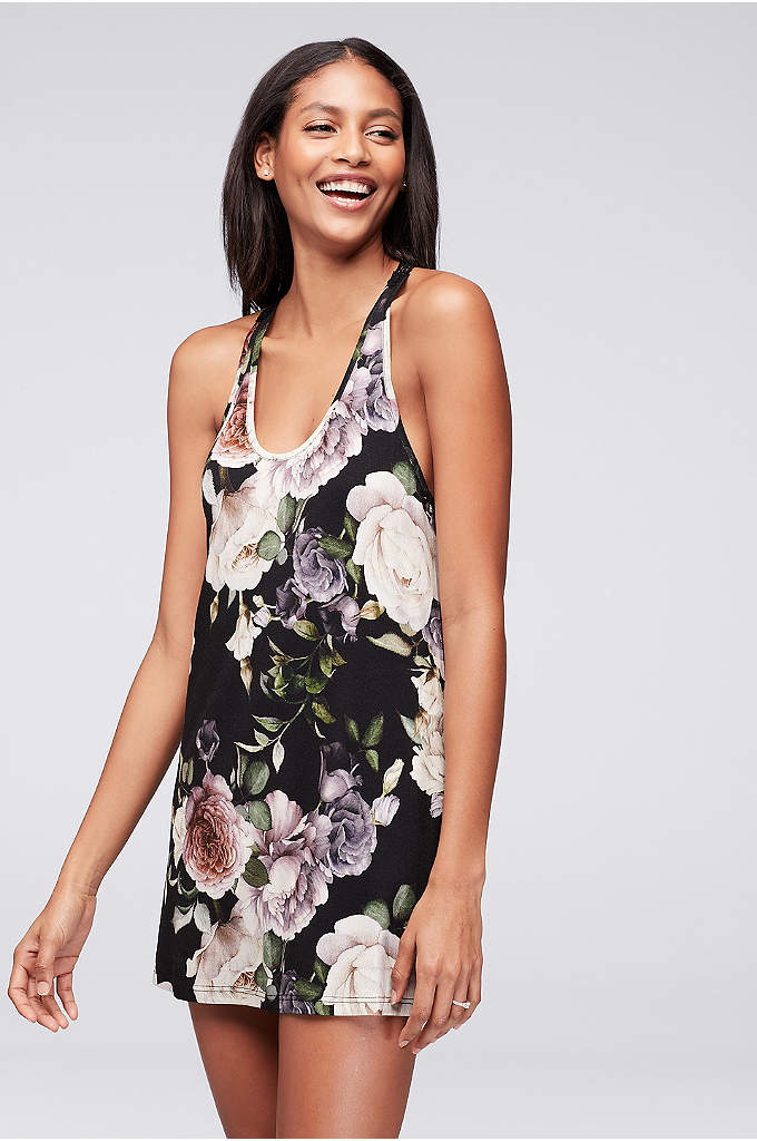 Flora Nikrooz Renee Chemise - Featuring a photographic botanical print and a lace