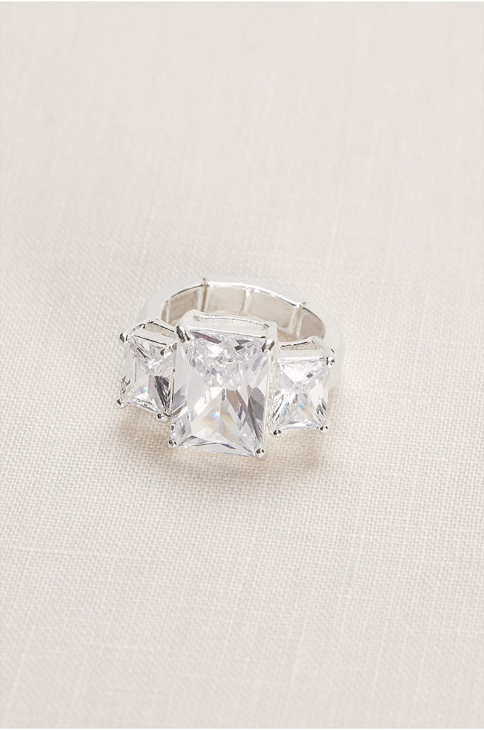 Emerald Multiple Stone Ring - Sophisticated emerald cut stones make this ring shine