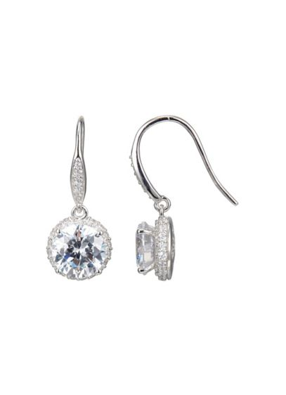 Rhodium Plated Clarion Cubic Zirconia Drops - Wedding Accessories