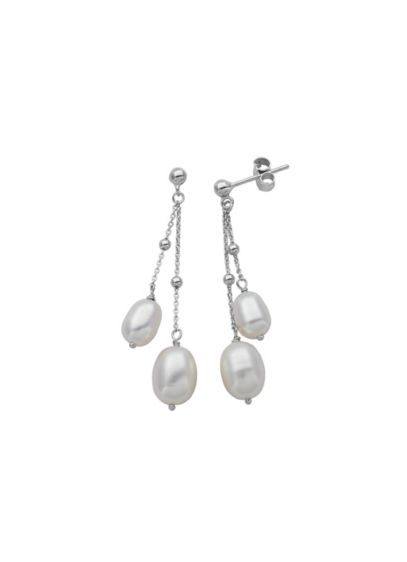 Sterling Silver and Pearl Drop Earrings - Wedding Accessories