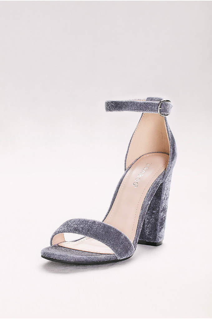 Simple Block-Heel Sandals with Ankle Strap