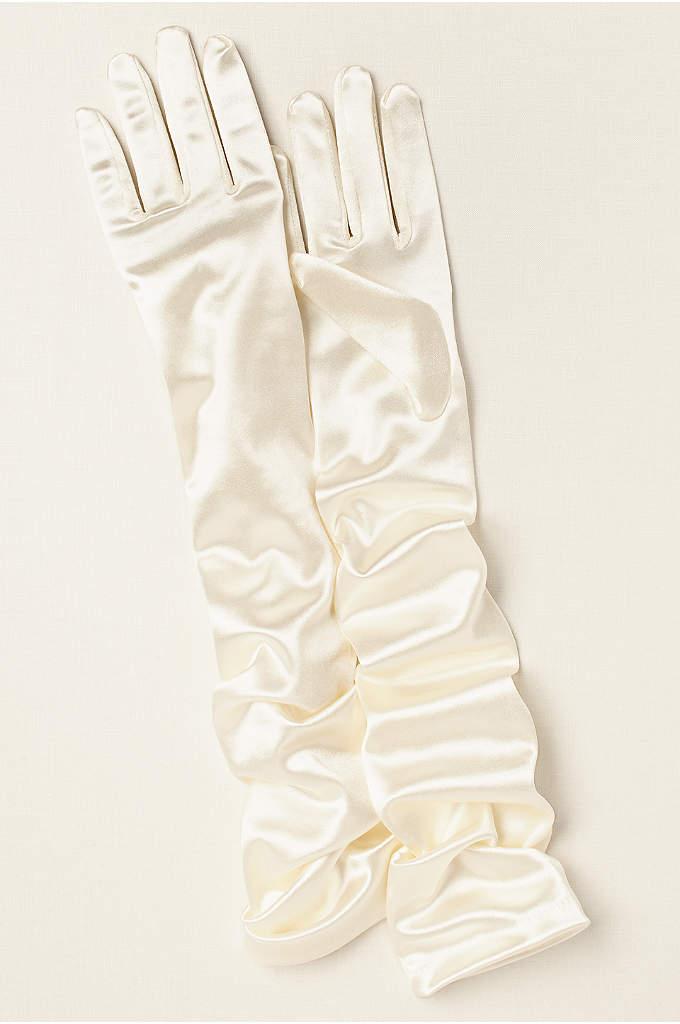 Satin Opera Length Gloves - This shiny satin opera length glove is perfectly