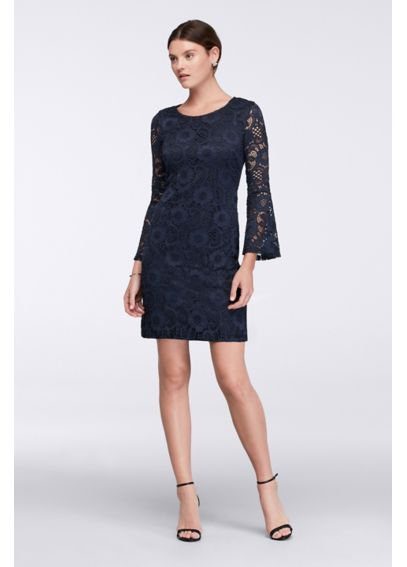 Bell Sleeve Lace Sheath Dress RB40007