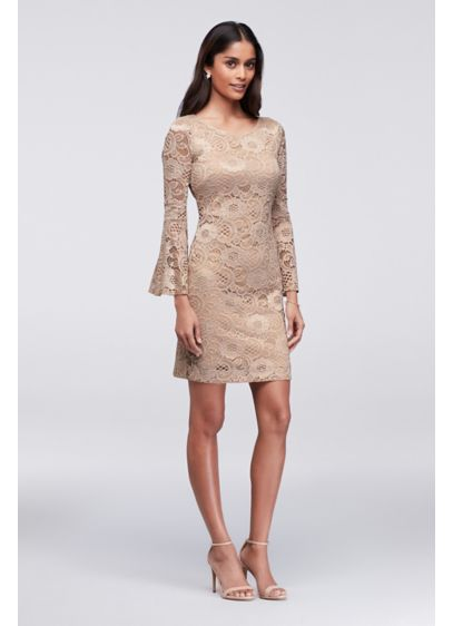 Short Sheath Long Sleeves Cocktail and Party Dress - Robbie Bee