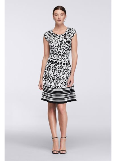 Short A-Line Cap Sleeves Cocktail and Party Dress - Robbie Bee