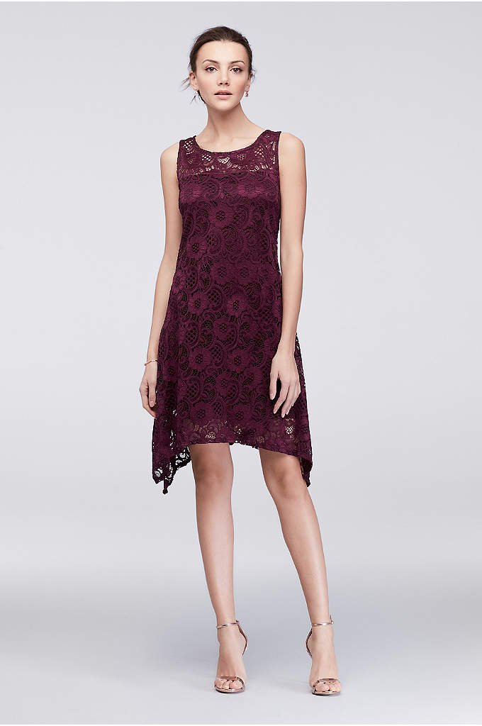 Lace Tank Swing Dress - Make an impression at garden parties and cocktail
