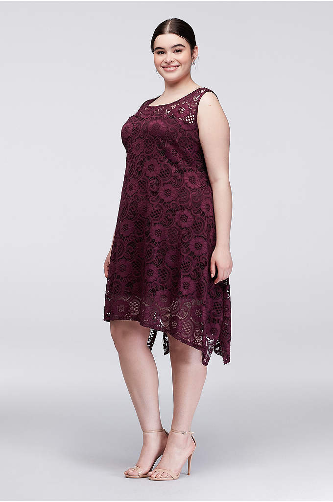 Lace Tank Swing Plus Size Dress - Make an impression at garden parties and cocktail