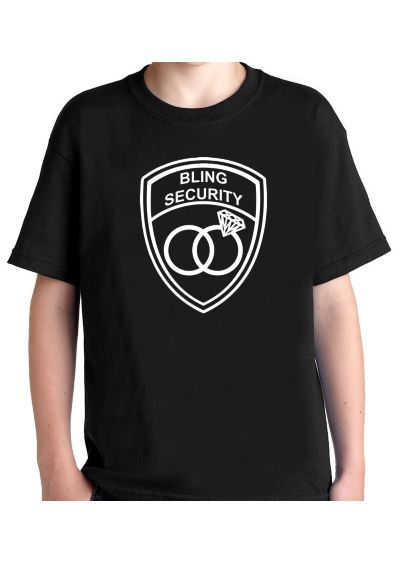 Bling Security Ring Bearer T-Shirt - Wedding Gifts & Decorations