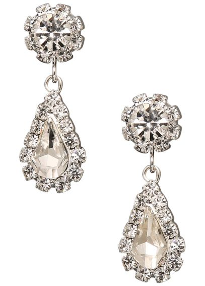 Flower and Teardrop Dangle Earrings RE2177