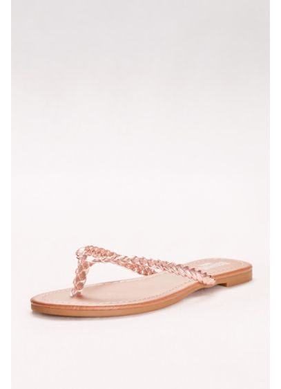 David's Bridal Pink (Metallic Braided Flip-Flops)