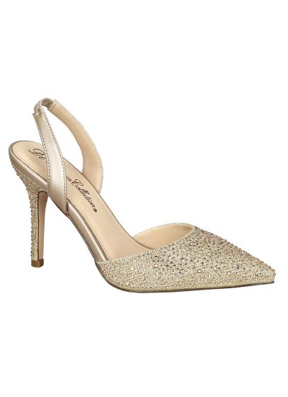 Blossom Beige (Pointed Toe Crystal Slingback by Blossom)