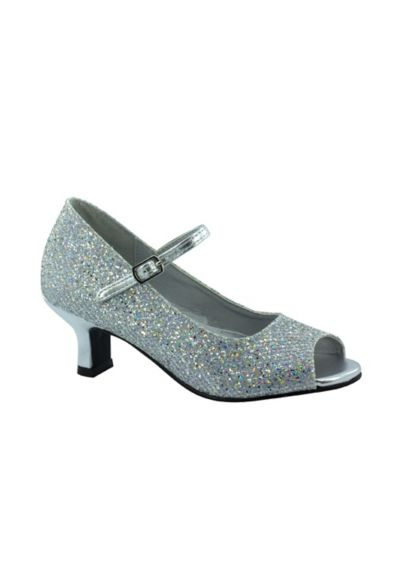 Touch Ups Grey (Rikki Sparkling Flower Girl Sandal by Touch Ups)