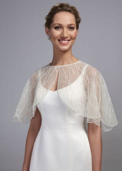 Tulle Cape with Sequin Embellishments RL129