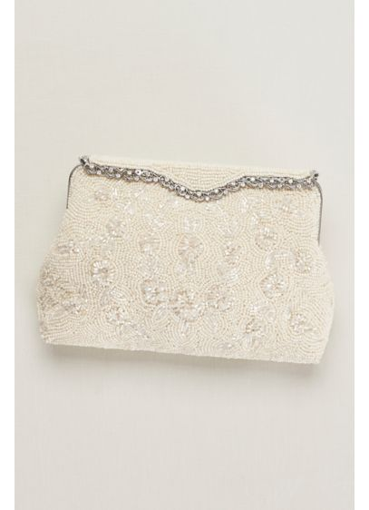 Hand Beaded Soft Clutch - Wedding Accessories
