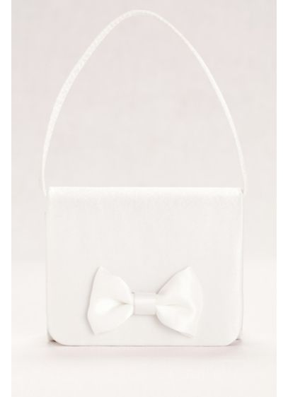 Satin Flower Girl Handbag with Bow Detail - Wedding Accessories