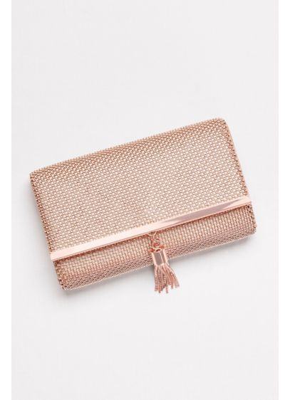 Tassled Metal Mesh Clutch - Wedding Accessories