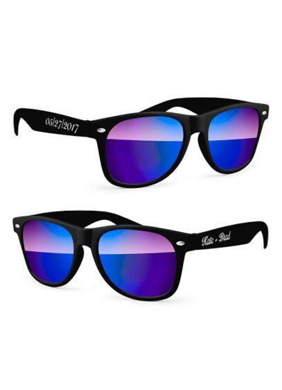 Personalized Retro Mirrored Party Sunglasses - Wedding Gifts & Decorations