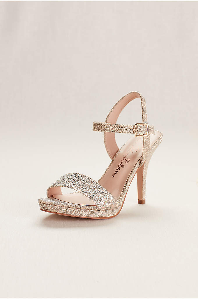 Embellished Party Heel by Blossom - This dazzling ankle strap sandal is the perfect
