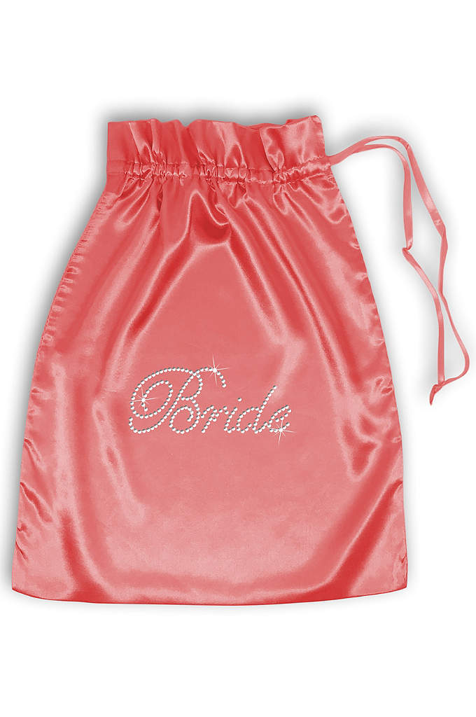 Rhinestone Bride Satin Bag - This luxurious Bride Satin Bag comes embellished with