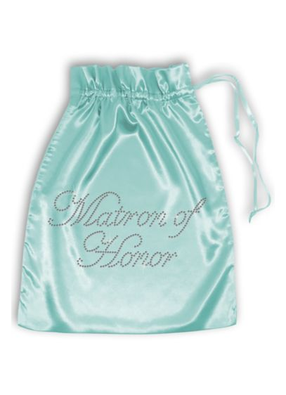 Pink (Rhinestone Matron of Honor Satin Bag)
