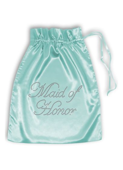 Pink (Rhinestone Maid of Honor Satin Bag)
