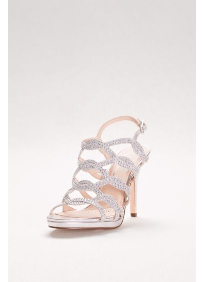 Touch of Nina Grey (Crystal-Embellished Caged Platform Heels)
