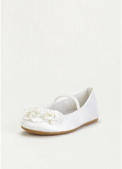 Ivory (Ballet Flower Girl Flat with Ruffle Detail)