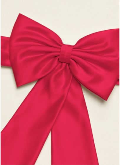Satin Flower Girl Sash with Back Bow Detail - Wedding Accessories