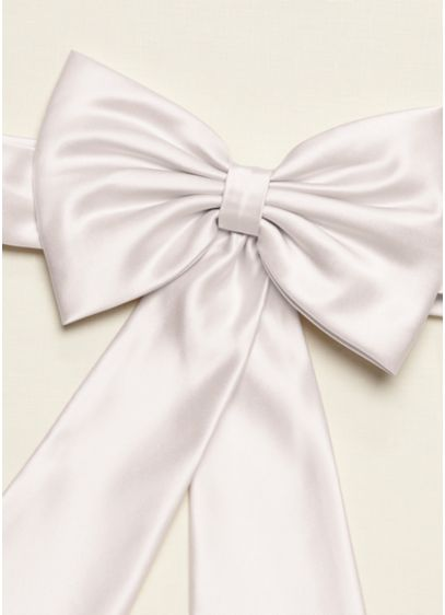 Satin Flower Girl Sash with Back Bow - Wedding Accessories
