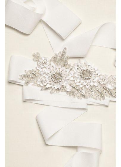 Embellished 3D Floral Applique Sash - Wedding Accessories