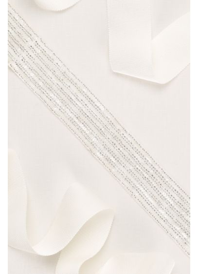 Linear Beaded Sash - Wedding Accessories