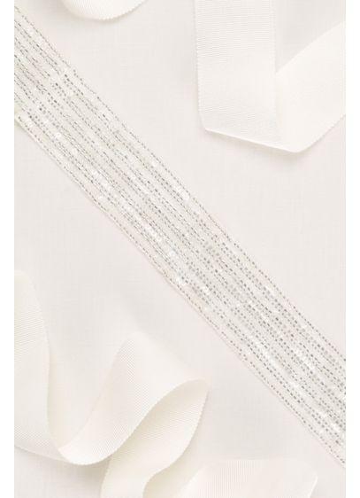 Linear Beaded Sash - Wedding Accessories