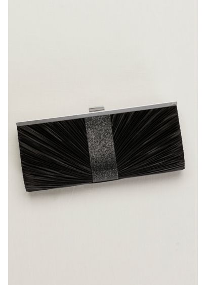 Pleated Clutch with Shimmer - Wedding Accessories