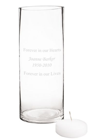 Personalized Floating Memorial Candle  Frame Set S2300