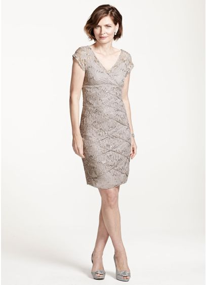 Short Sheath Cap Sleeves Cocktail and Party Dress - Scarlett Nite