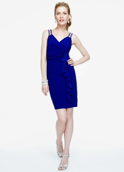Sleeveless Jersey Dress with Ruffle Detail S267700
