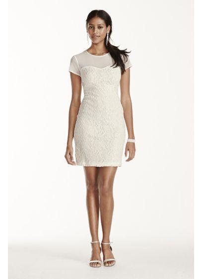 Short Sheath Short Sleeves Graduation Dress - Scarlett Nite