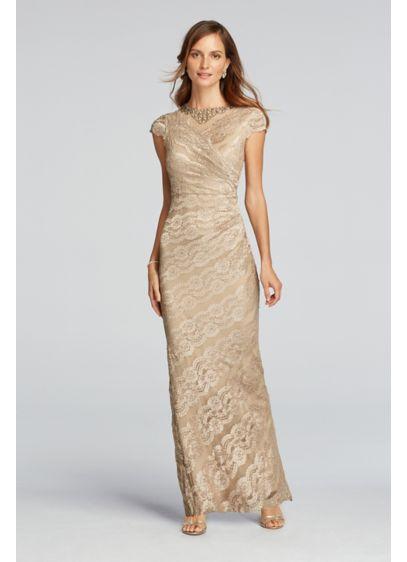 Long Sheath Cap Sleeves Formal Dresses Dress - Scarlett Nite