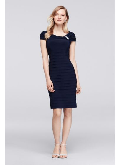 Short Sheath Cap Sleeves Mother and Special Guest Dress - Scarlett Nite
