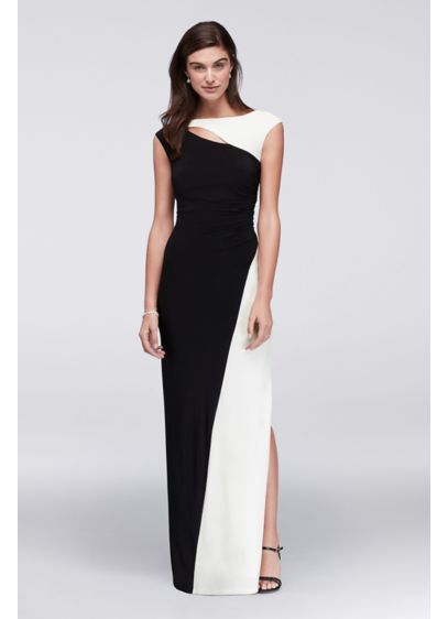 Long A-Line Cap Sleeves Formal Dresses Dress - Scarlett Nite