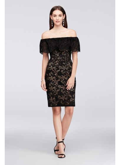 Short Sheath Off the Shoulder Cocktail and Party Dress - Scarlett Nite