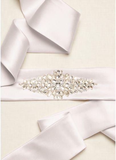 Satin Sash with Beaded Embellishment - Wedding Accessories