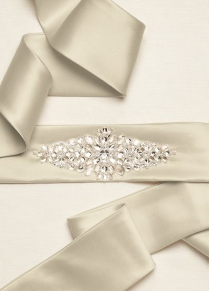 Satin Sash with Beaded Embellishment S3029