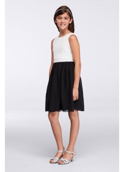 Short Black Soft & Flowy Speechless Bridesmaid Dress