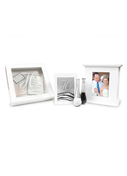 Personalized 3pc Sand Ceremony and Card Box Set - Wedding Gifts & Decorations
