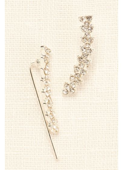 Crystal Ear Climber Earrings - Wedding Accessories