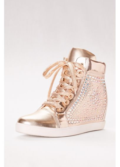 High-Top Metallic Sneaker with Built-In Heel SASA12DB