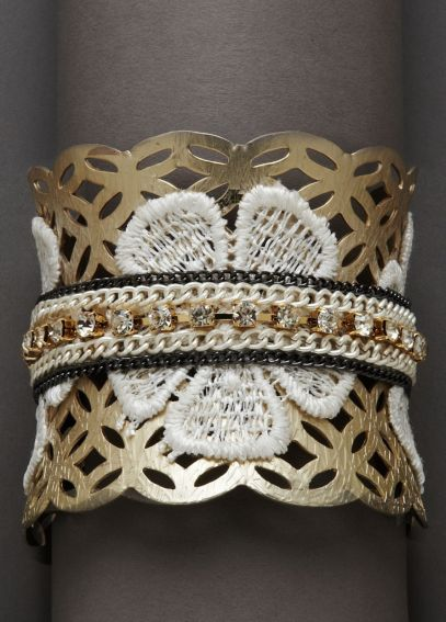 Mixed Media Applique Cuff SB2969