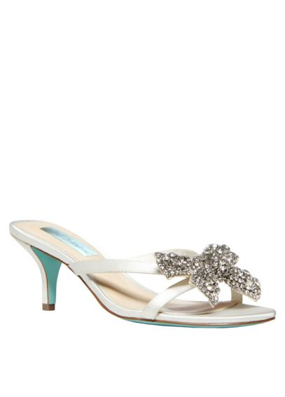 Blue by Betsey Johnson Encrusted Bow Sandal SBBLUSH