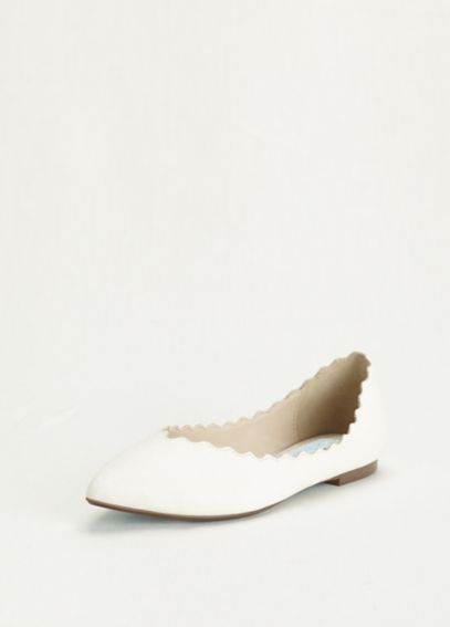 Blue by Betsey Johnson Scallop Edged Ballet Flats SBCAKE